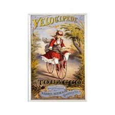Velocipede Tobacco 1874 Rectangle Magnet