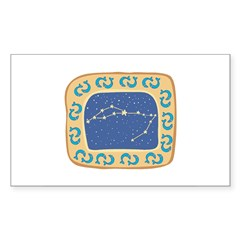 Pisces Constellation Sticker (Rectangle)