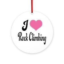 I Love Rock Climbing Ornament (Round)