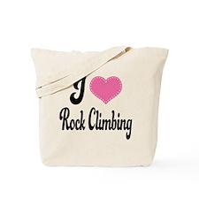 I Love Rock Climbing Tote Bag