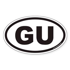 GU Euro Oval Decal