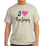 I Love Rope Jumping Light T-Shirt