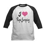 I Love Rope Jumping Kids Baseball Jersey
