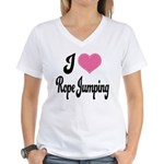 I Love Rope Jumping Women's V-Neck T-Shirt
