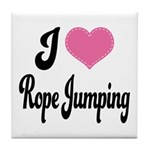 I Love Rope Jumping Tile Coaster