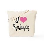 I Love Rope Jumping Tote Bag