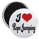 I Love Rope Jumping Magnet