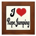 I Love Rope Jumping Framed Tile