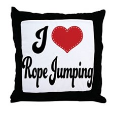 I Love Rope Jumping Throw Pillow