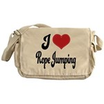 I Love Rope Jumping Messenger Bag