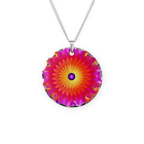 Big flower (Necklace Circle Charm)