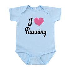I Love Running Infant Bodysuit