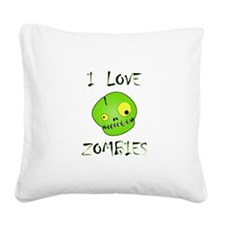 Love Zombies Square Canvas Pillow