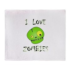 Love Zombies Throw Blanket
