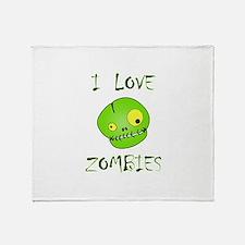 Love Zombies Throw Blanket