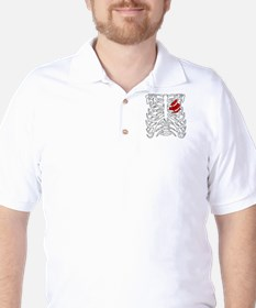 Boosted Heart Golf Shirt