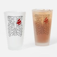 Boosted Heart Drinking Glass
