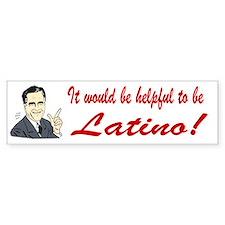 Stuff Romney Says (Latino) Bumper sticker
