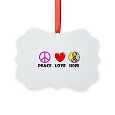 Peace Love Hope Ornament