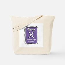Pisces Plaque Tote Bag