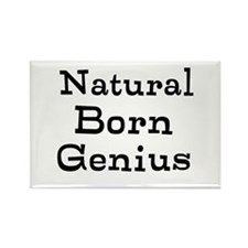 Natural Born Genius Rectangle Magnet