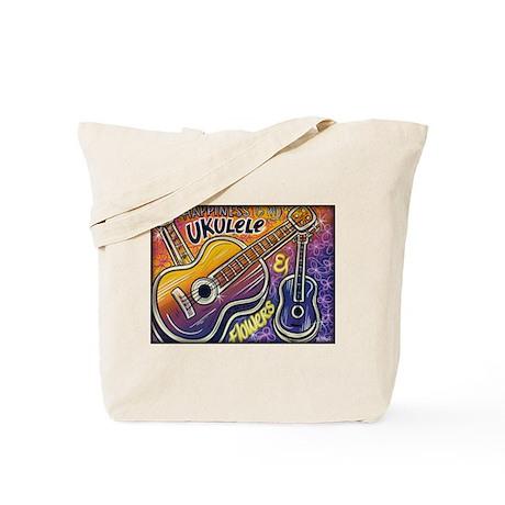 Happiness is My Ukulele Tote Bag
