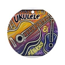 Happiness is My Ukulele Ornament (Round)