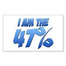 I Am the 47% Rectangle Sticker (10 pack)
