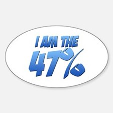 I Am the 47% Oval Decal