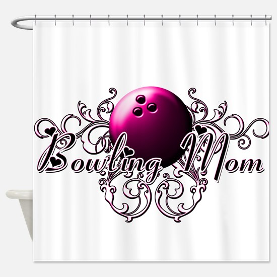 Bowling Mom (pink ball).png Shower Curtain