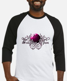 Bowling Mom (pink ball).png Baseball Jersey
