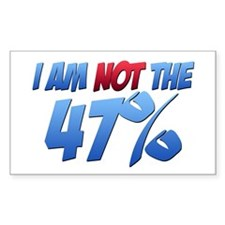I Am NOT the 47% Rectangle Sticker (10 pack)