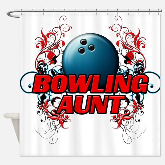 Bowling Aunt (cross).png Shower Curtain