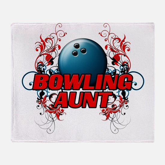 Bowling Aunt (cross).png Throw Blanket