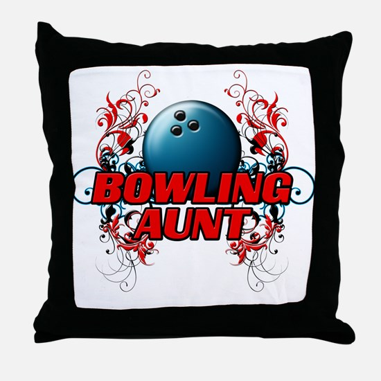 Bowling Aunt (cross).png Throw Pillow