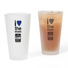 I Heart the Blues/KZUM2 Drinking Glass