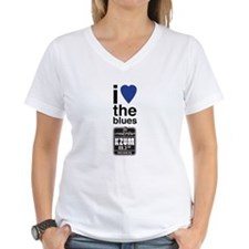 I Heart the Blues/KZUM2 Women's V-Neck T-Shirt