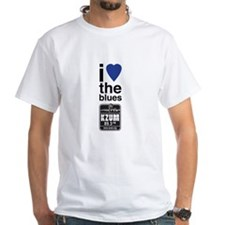 I Heart the Blues/KZUM2 White T-Shirt