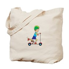 Scooter Boy Tote Bag