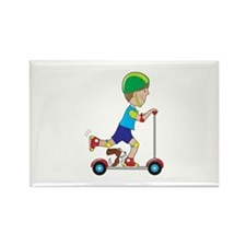 Scooter Boy Rectangle Magnet
