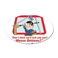 No Hockey Lockout Shirt 2 Wall Decal