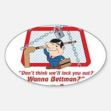 No Hockey Lockout Shirt 2 Sticker (Oval)