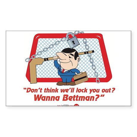 No Hockey Lockout Shirt 2 Sticker (Rectangle)