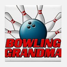 Bowling Grandma (pins).png Tile Coaster