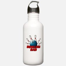 Bowling Dad (pins).png Water Bottle