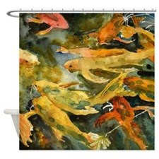Carp Bathroom Shower Curtain