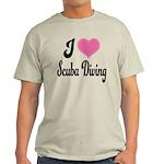 I Love Scuba Diving Light T-Shirt