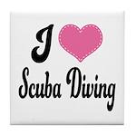 I Love Scuba Diving Tile Coaster