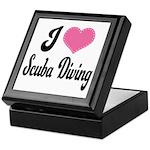 I Love Scuba Diving Keepsake Box
