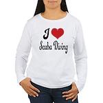 I Love Scuba Diving Women's Long Sleeve T-Shirt